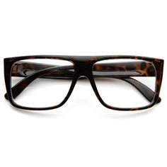 Casual Fashion Basic Rectangular Flat Top Clear Lens Glasses  casualfashion b2bc09b8b5fc