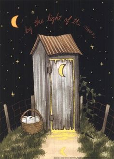 Moon Outhouse Fine-Art Print by Becca Barton at FulcrumGallery.com