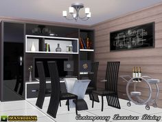 Contemporary Luxurious Dining Room by Canelline - Sims 3 Downloads CC Caboodle