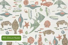 Peter Dunham Textile. I haven't seen this one before but I have so many cute nautical/beachy fabrics now. More keep coming out all this time, from sophisticated & subte to bright & wild!