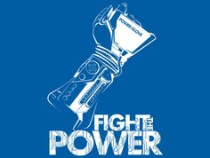 Fight The Power T-Shirt Designed by inkone