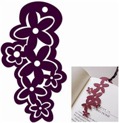 bookmark flower 6685---------------------I think I'm in love with this shape from the Silhouette Online Store!