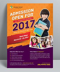 Buy School Flyer by themedevisers on GraphicRiver.  School Promotion Flyer Template, Suitable for junior school or preschool theme. You can use this template for inform...