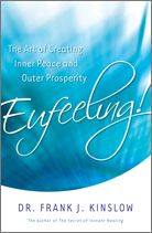 Eufeeling! The Art of Creating Inner Peace and Outer Prosperity is soon to be released with copies mailing out in just 30 days! Dr. Kinslow's newest book isn't just a pretty cover, either, for in its pages you'll find the easy-to-learn, easy-to-implement, Quantum Entrainment process. Learn to heal the physical and emotional troubles of yourself and those around you and watch in amazement as the world transforms before your eyes.     Rediscover Your Self and the World Around You