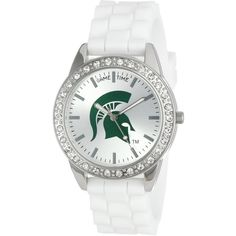 """Game Time Women's COL-FRO-MSU """"Frost"""" Watch - Michigan State ($30) ❤ liked on Polyvore featuring jewelry and watches"""