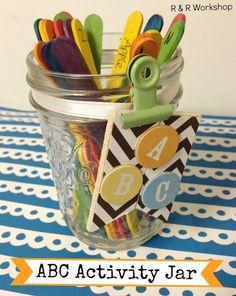 ABC Summer Activity Jar- R & R Workshop #kids #activities #summer