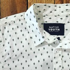 Rad stuff in from @native_youth like this  cacti print s/s shirt #oakland #lakemerritt #nativeyouth #cactus