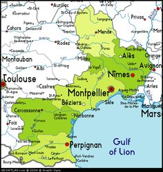Map of Languedoc-Roussillon