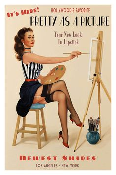 Pretty As A Picture By Fiona Stephenson Pin Up