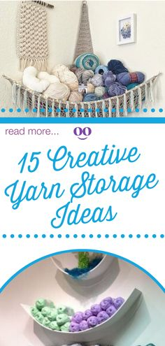 Looking for creative ways to organize your yarn stash? Add a little flair to that yarn stash! Here are 15 creative ways to organize your yarn stash! Yarn Storage, Craft Room Storage, Storage Ideas, Crochet Hammock, Yarn Crafts, Diy Crafts, Home Organization Hacks, Household Organization, Old Suitcases