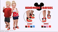 Miguel Creations TS4 - Handmad Loafers (Mickey and Minnie)