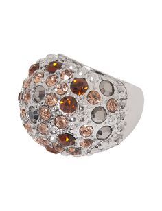 Multi stone stretch dome ring by Lane Bryant | Lane Bryant