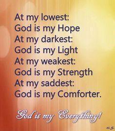 Hope, Light, Strength, Comforter