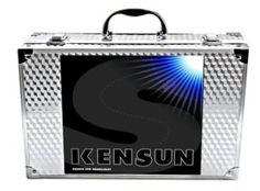 The Kensun HID Xenon Conversion Kit have a glass chamber of gas that replaces the filament of traditional halogen light bulb. The gas is ignited with an approximately 23,000 volt charge and stays illuminated by a constant 12v source that is provided by a ballast which is connected directly to your battery.