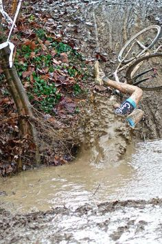 Submerging! #cycling
