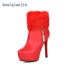 44.41$  Watch now - http://aixls.worlditems.win/all/product.php?id=32504437162 - Warm winter pumps boots Fashion simple Gold Black Red White Silver 2017 New Products Comfort wild section Warm winter boots