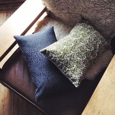 I finally had a chance to finish these pillows - I really like the light grey crosses on the dark grey linen