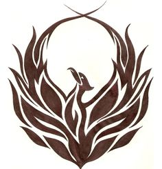Phoenix tattoo design...I like something like this, too, if it were to span my whole back. Maybe with the heart chakra symbol in the middle...incorporated some how...