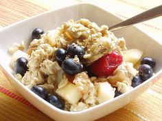 Oatmeal with Fruit and Honey