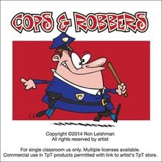 Thank goodness for cops cause there will always be robbers. Cops and Robbers includes 21 unique cartoon images of cops and robbers doping their thing. All images come in full color as well as black and white line art for a total of 42 images in eps, jpeg and png formats.