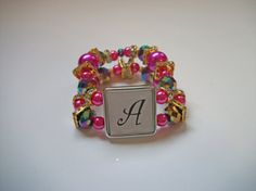 Letter Bracelets by SiennaSews on Etsy $10 Free Shipping! 10% off with coupon code JAN2015