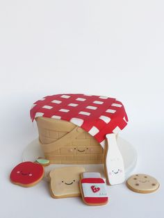 Peaceofcake ♥ Sweet Design: Picnic Cake and Cookies • Bolo e Bolachas Picnic