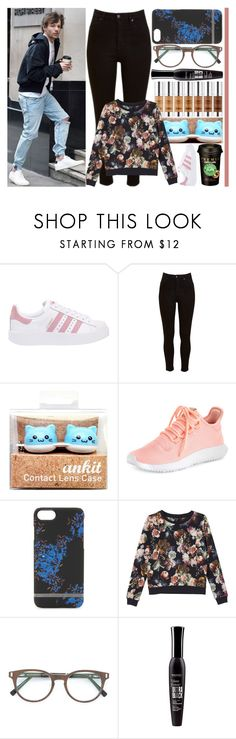 """""""With Louis Tomlinson"""" by angelbrubisc ❤ liked on Polyvore featuring adidas Originals, Lee, adidas, Richmond & Finch, Monki, Gold & Wood, Bourjois and Caffé"""