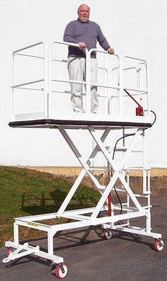 Platform size – wide x with bumper Hand Pump operation 500 lb. Metal Working Tools, Metal Tools, Metal Sheet Design, Aluminium Ladder, Flooring For Stairs, Welding Table, Construction Tools, House Front Design, Iron Furniture