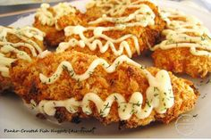 Little Joy Factory: Air-Fried Panko-Crusted Fish Nuggets with Dill Mayonnaise 空气锅炸香酥面包鱼