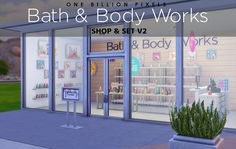 Bath & Body Works Shop & Set at One Billion Pixels via Sims 4 Updates Bath Body Works, My Sims, Sims Cc, Sims 4 Restaurant, The Sims 4 Lots, Sims 4 Bedroom, Sims House Design, Sims Building, Free Sims