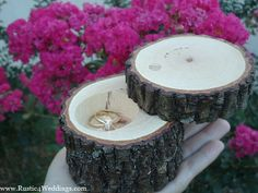 Rustic 4 Weddings: Rustic Wedding Ring Holder, Rustic Ring Box, Wedding Ring Box, Proposal Ring Box, Tree Branch Ring Box, His and Hers Wood Wedding Ring Holders