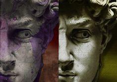 MICHELANGELO-DAVID GianPaolo Zanti-variazioni sul tema intervento digitale