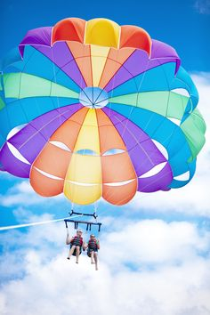 Get a view you'll never forget while you parasail over the Caribbean.