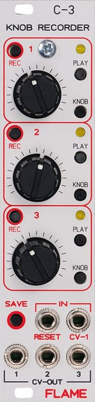 Eurorack Module C-3 Knob Recorder from Flame