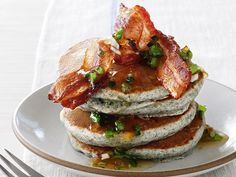 Jalapeno-Cornmeal Pancakes from FoodNetwork.com. How could this be bad?