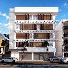 Edifício Comercial - Francisco Beltrão - PR  Área Total 1.500 m²  Planta livre com opção de 1 a 4 salas por pavimento. Fachada com brise móvel auxiliando no controle de insolação e na estética do edifício.