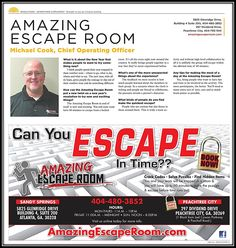 Amazing Escape Room Sandy Springs Is In Creative Loafing Magazine