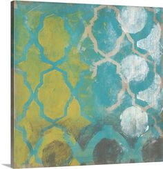 canvas art work teal