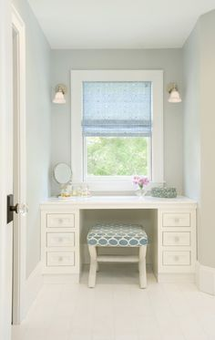 These small, tucked-away windows can be a pain to dress due to their small size and awkward location. A roman shade and the right furniture placement can be a clever dressing solution to make a dormer a functional space.