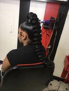 Hair Ponytail Styles, Black Girl Braided Hairstyles, Braided Ponytail Hairstyles, Sleek Ponytail, Baddie Hairstyles, Box Braids Hairstyles, Black Women Hairstyles, Curly Hair Styles, Natural Hair Styles