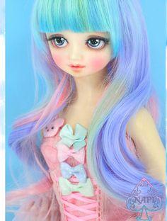 Mermaid Hair 8-9inch(M)|DOLKSTATION - Ball Jointed Dolls Shop - Shop of BJD Dolls