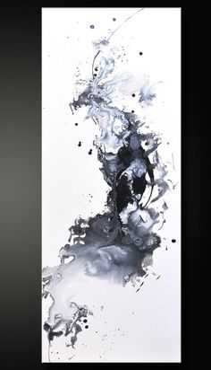 Opposed - 12 x 30 - Abstract Acrylic Painting - Black White Contemporary Fine Wall Art Modern Art, Contemporary Art, Guache, Art Abstrait, Resin Art, Ink Art, Painting Inspiration, Tattoo Inspiration, Amazing Art