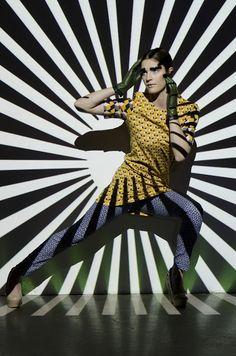 Futuristic Patterns  Photographer: Vanessa DeZutter  Stylist: Carmen Tsang  MUAH: Michelle Comtois  Model: Rachel, Numa Models  Light projections, patterns, colours, editorial, photo shoot, Fashion Books, Futuristic, Photo Shoot, Editorial, Dresses With Sleeves, Punk, Colours, Models, Patterns