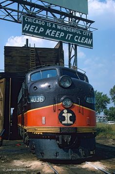Illinois Central 4036 waits for its next call to duty at IC's 27th Street facility in Chicago, Illinois, August 30, 1969.