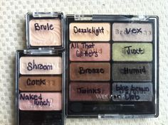 "Wet n Wild eyeshadow dupes for MAC shades. ""Comfort Zone"" palette by WNW has: Dazzlelight, All That Glitters, Bronze, Twinks, Vex, Juxt, Humid, and BlueBrown pigment or Club. Walking on Eggshells palette by WNW has; Shroom, Cork, Naked Lunch. Brûlée by WNW is: Brule"