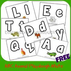 FREE ABC Animal Playdough Mats!