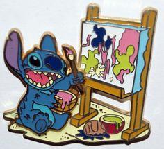 Disney Stitch Painting Pin