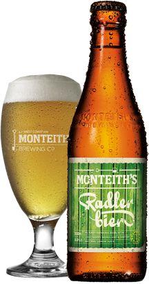 Monteith's Radler Bier - Monteiths Brewing Co. Radler Beer, Beer 101, Brewing Co, Drinking, Chips, Bucket, Bottle, Art, Ale