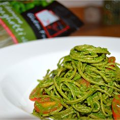 Chilled Edamame noodle Vegan Spaghetti....Oh yeah, this is happening in our house tonight!