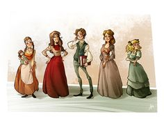 Little Women Characters design